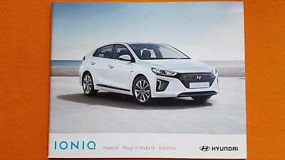 Hyundai IONIQ Hybrid SE Premium sales brochure catalogue July 2017 MINT