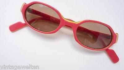 Maus Sonnenbrille Mädchenbrille rot gelb oval Kunstoff günstig neu size K ()