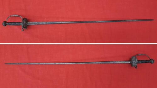 Mid-17th Century Italian Pierced And Chiseled Steel Hilted Transitional Rapier