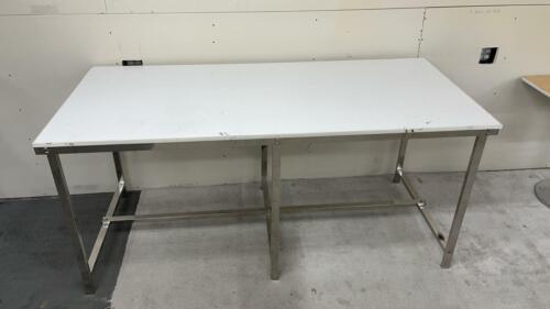 "Industrial Table Warehouse Storage Steel Desk Workbench 79"" L x 36"" W x 36"" H"