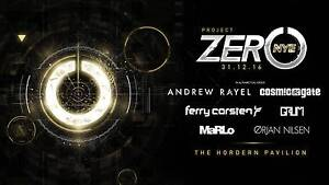 2 X EZY-TICKETS TO PROJECT ZERO NYE AT HORDERN PAVILLION Lugarno Hurstville Area Preview
