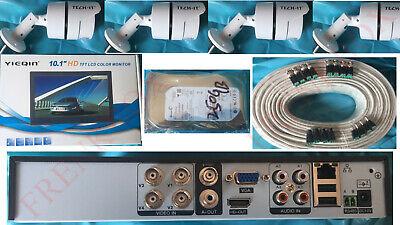 Kit videosorveglianza DVR AHD 250Gb 4 Telecamere 3mpx SONY Monitor 10