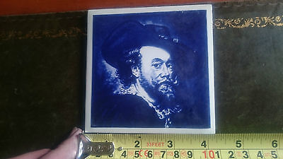 Famous Painting Self Portrait Peter Paul Rubens Delft Region Ceramic Wall Tile
