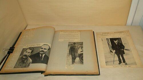 1940 Winston Churchill Menu Copley-Plaza +Churchill newspaper clipping scrapbook