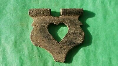 VR Style Medieval bronze lovers heart buckle plate Please read description L161j