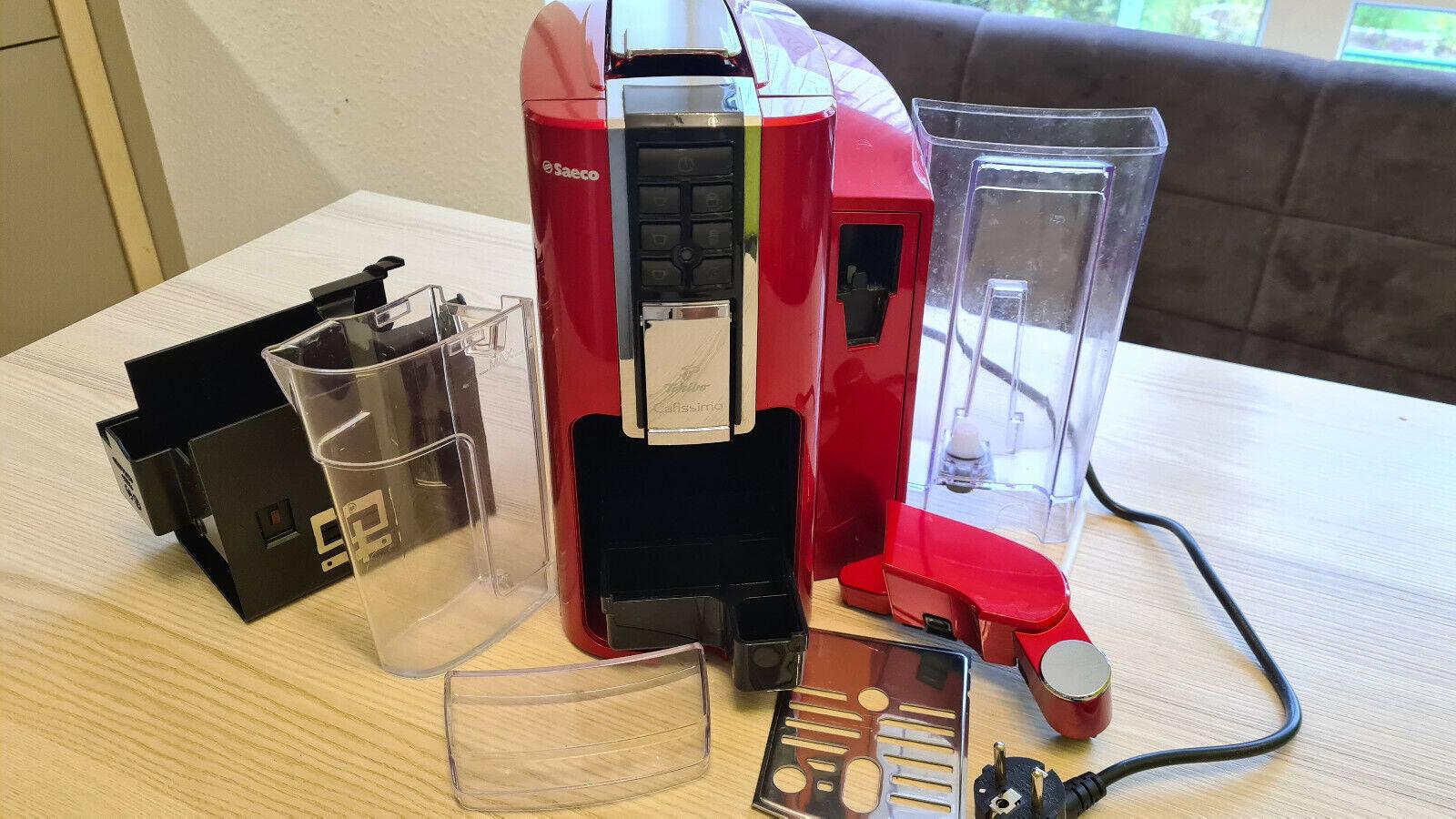 Tchibo Saeco Cafissimo Latte Argent Rot Kaffeemaschine Kaffeevollautomat