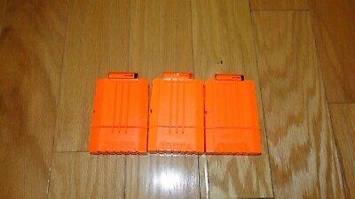 3 Nerf N Strike 6 Round Ammo Dart Cartridge Clip Magazine