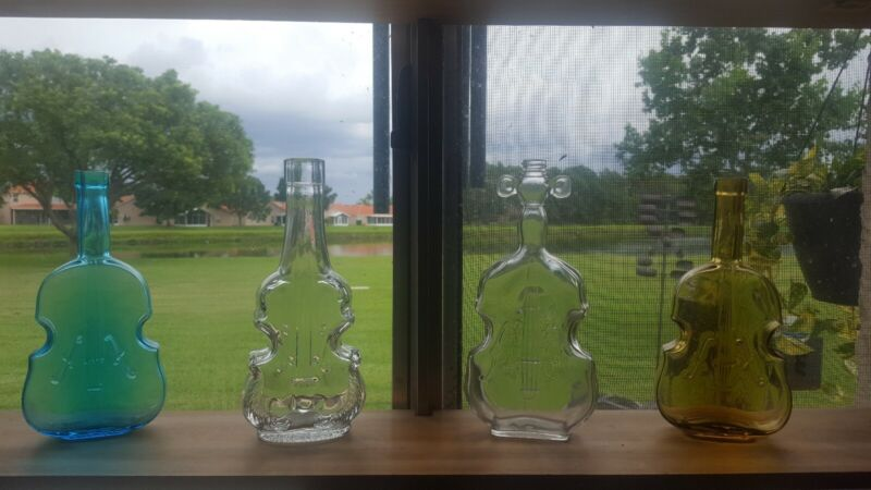 Glass violin bottle collection