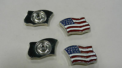 Conchos American Flag screwback concho, $2.75