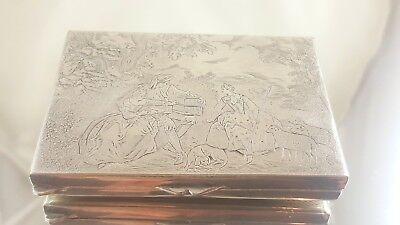 D9 TOLLE DOSE / DÖSSCHEN PLATED 8 cm x 5,5 cm x 1,3 cm SUPER ZUSTAND TOLLE SZENE