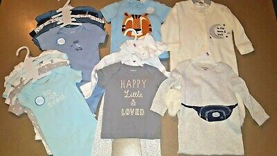 Brand New! 14 Piece Baby Boy outfits 9 Months See description for brands