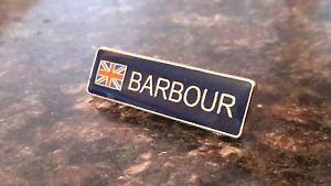 enamel wax jacket Barbour union jack pin badge international