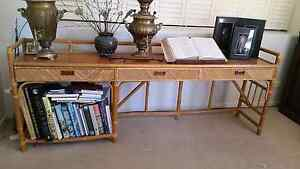 Timber and wicker sideboard with drawers and shelf 2.2m long Ashmore Gold Coast City Preview