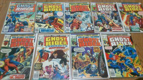 Ghost Rider Lot #20 22 23 24 25 26 27 28 29 Bronze Age 1976 Marvel Comics
