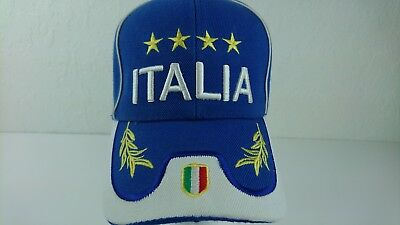 - Italy Italia FIFA World Cup Champions Soccer Futbol Cap Hat One Size Adjustable
