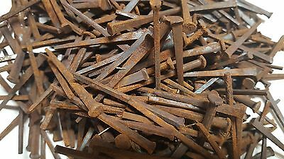 Count of (500)  Antique Square Nails 2 in. NOS NEW OLD STOCK