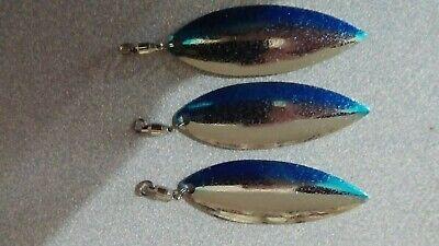 50 Willow Leaf Spinner Bait Blades Worth Mfg 94824 Size 4 Nickel Finish