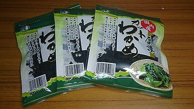 WAKAME.Drying cut seaweed 25g. For Soup,salads etc. 3 Pack.Free shipping