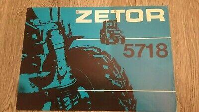 Używany, ZETOR 5718  Original Tractor Sales Brochure Flyer Sheet na sprzedaż  Wysyłka do Poland