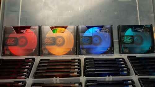 Bulk Buy 76 New Blank Sony MD74 Color Collection Mini Discs w/Plastic Case