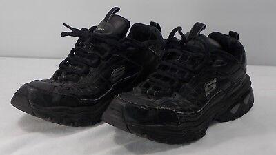 0ff844f3f7db8 Skechers Men's Athletic SN50081 Black Leather New Sport Train size 9.5
