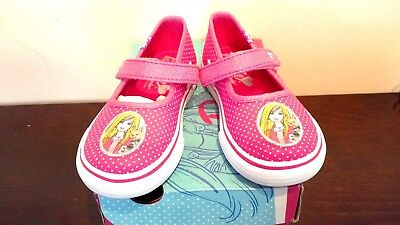 Girls sneakers (canvas) Barbie DBL MJ/PINK DOT  Size 8 1/2 M NEW with -