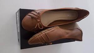 "Airflex ""Lizzy"" tan leather wedge court shoe, size 11 Westmead Parramatta Area Preview"