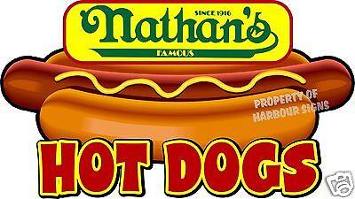 Nathans Hot Dogs 24 Hotdogs Restaurant Concession Food Truck Vinyl Sticker