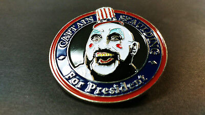 Captain Spaulding for President Hat Pin 1000 Corpses Rob Zombie Clown lapel - Rob Zombie Clown