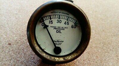 VINTAGE OIL PRESSURE GAUGE MOTORCYCLE /CAR