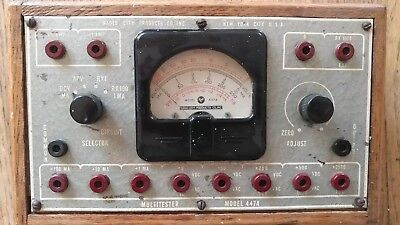 Vintage Antique Collectable Radio City Products Multimeter Model 447a