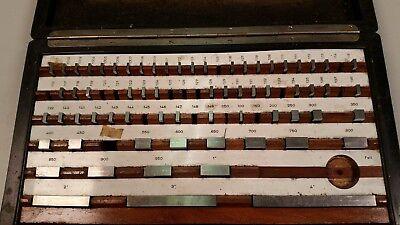 67 Piece Precision Gage Block Set Machinist Rectangular Incomplete Germany