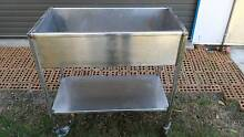 Stainless steel trolley. with stainless steel tub. Rothwell Redcliffe Area Preview