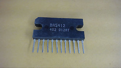 Rohm Ba5412 Power Amplifier Circuit 12-pin Zip New Lot Quantity-2