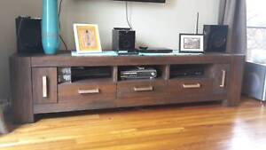 Matching lowline TV cabinet and coffee table