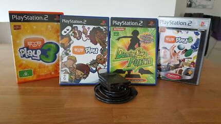 PS2 Eye Toy Device + 4 Games
