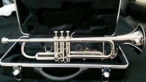 Bb TRUMPET-BANKRUPTCY SALE-NEW INTERMEDIATE CONCERT SILVER BAND TRUMPET