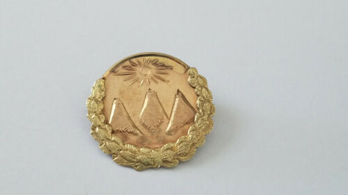 Antique Rare Fraternal Pythian Sisters Brooch/Pin in 10K Two-Tone Gold