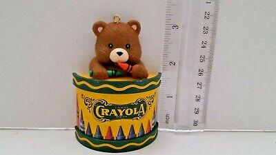 Vintage Crayola Crayons Christmas Ornament Drummer Boy Teddy Bear Holiday - Boy Bear Holiday Ornament