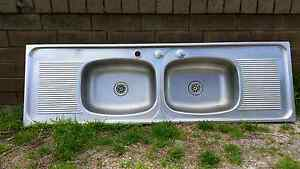 Double bowl stainless steel kitchen sink Eden Hill Bassendean Area Preview