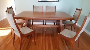 Solid teak dining room table for sale