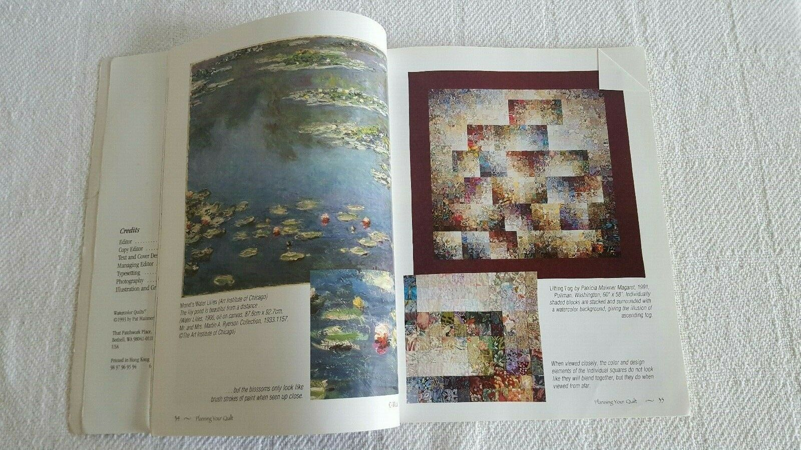 Watercolor Quilts Book By Pat Maixner Magaret Donna Ingram Slusser  - $3.99