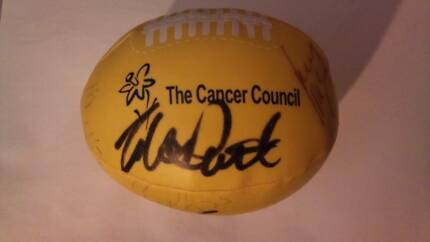 Afl football signatures signed daffodil day crows power