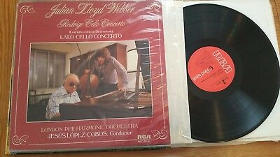 JULIAN LLOYD WEBBER RODRIGO CELLO CONCERTO LPO LOPEZ- COBOS RL25420 GERMAN  LP