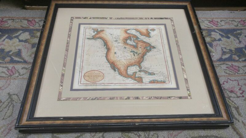 A General Map of North America from the BEST Authorities THOMAS&ANDREWS 1803(r97