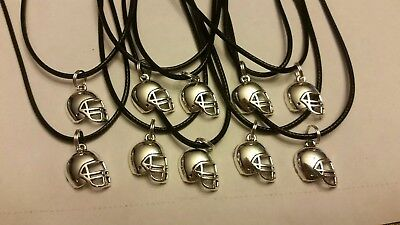 Nfl Party Favors (Lot of 10 necklaces ☆ birthday party favors ☆ FOOTBALL HELMET CHARMS)