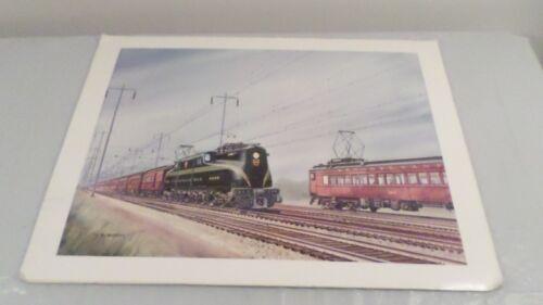 """1979 Gil Reid Pennsylvania Railroad Train Art Print 16x22"""""""