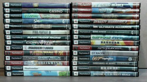 PS2 games lot of 28 untested