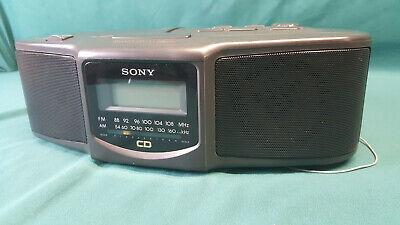 Sony ICF-CD800 Dual Alarm Clock AM/FM Radio CD Player