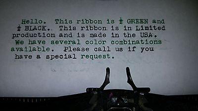 Vintage Portable Manual Royal Typewriter Spool Ribbon Black - Green Ribbon